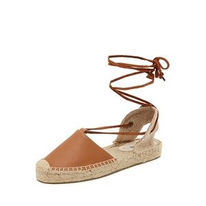 Soludos Lace Up Leather Espadrilles